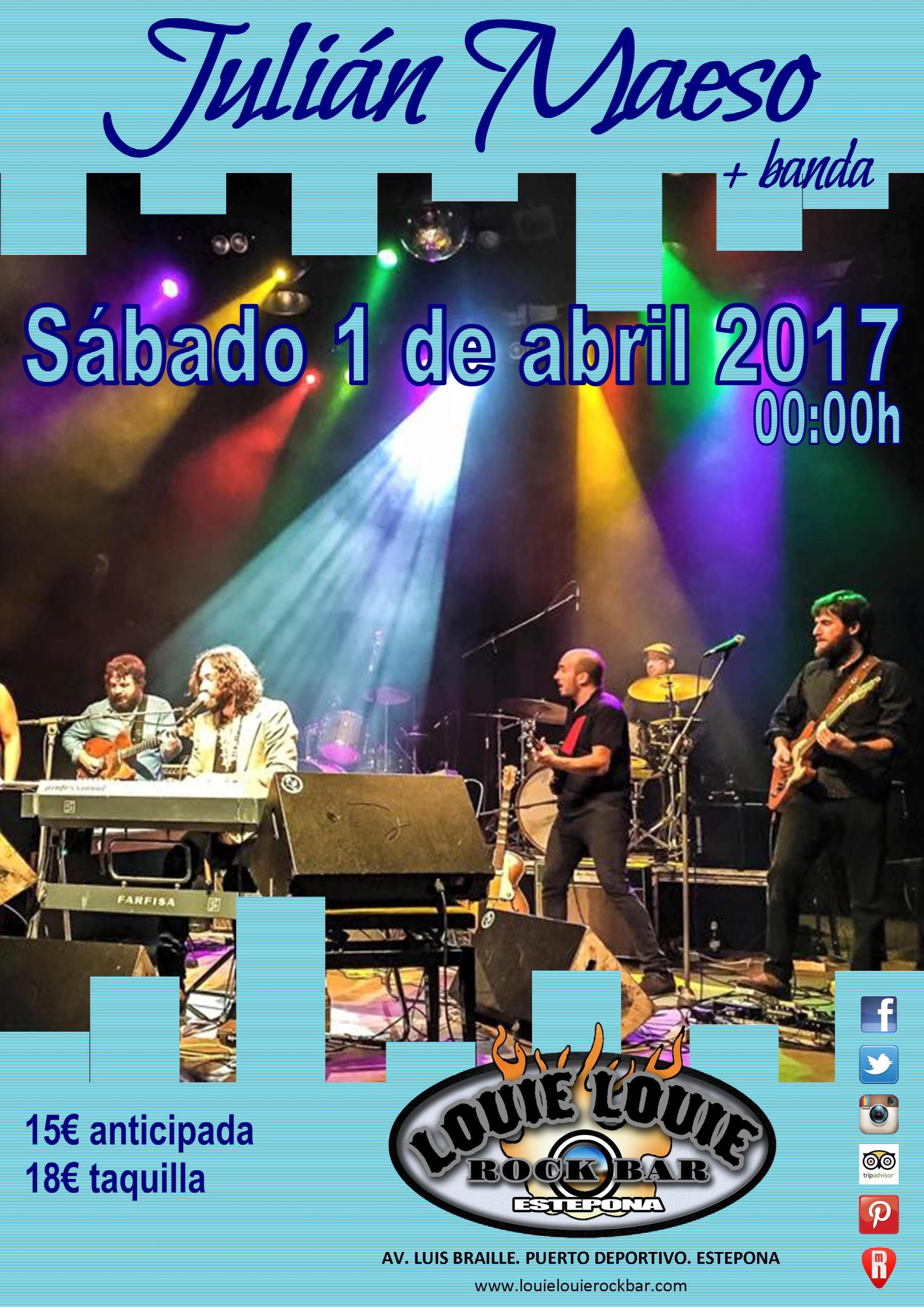 Cartel anunciando el concierto de Julián Maeso