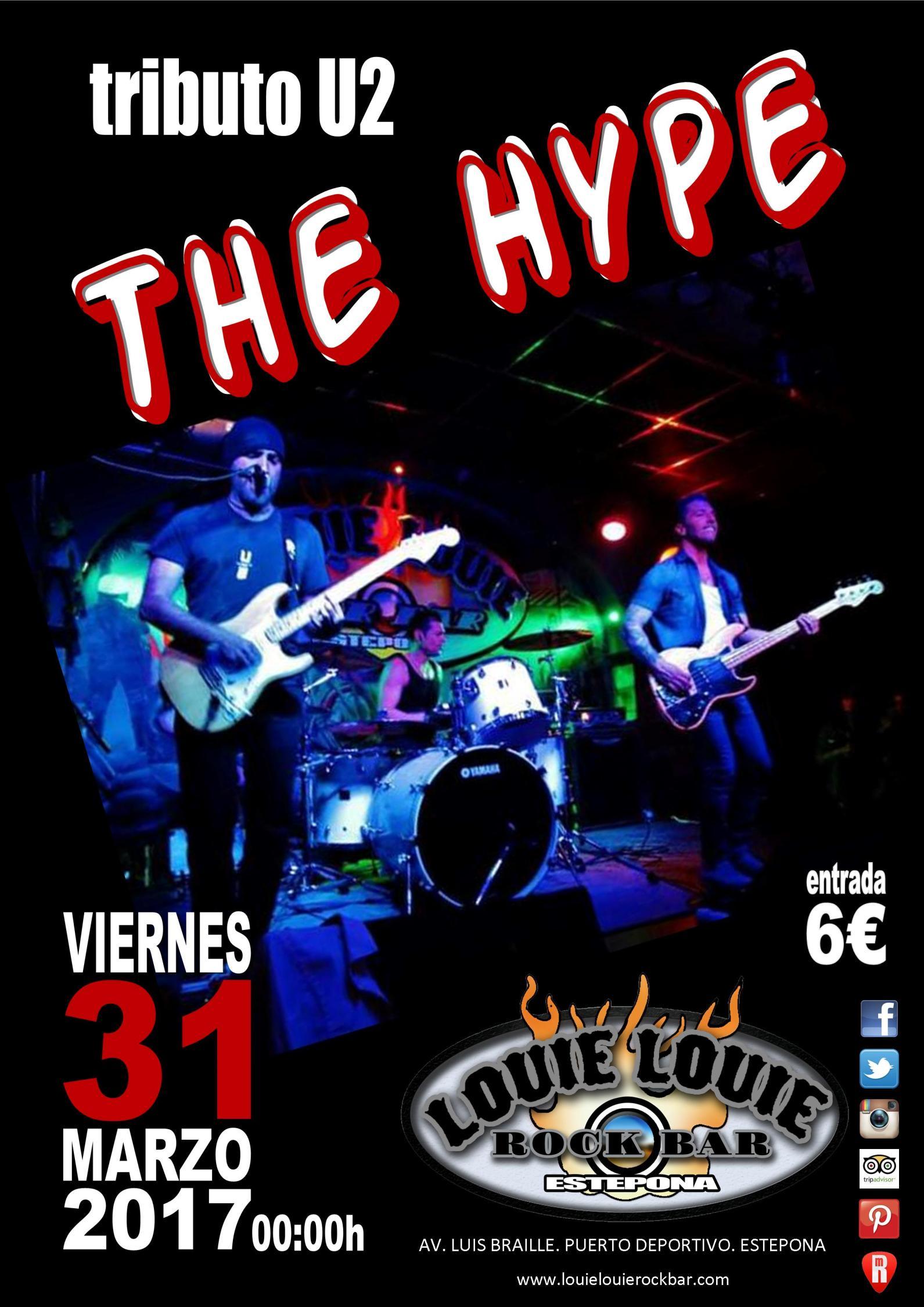 Cartel anunciando el concierto de The Hype