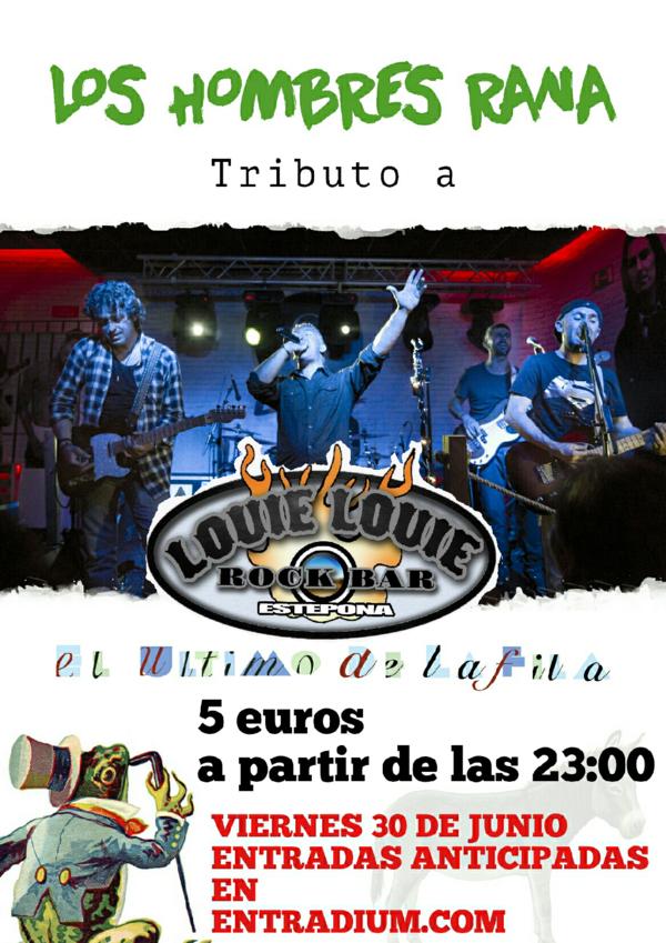 Cartel anunciando el concierto de Los Hombres Rana