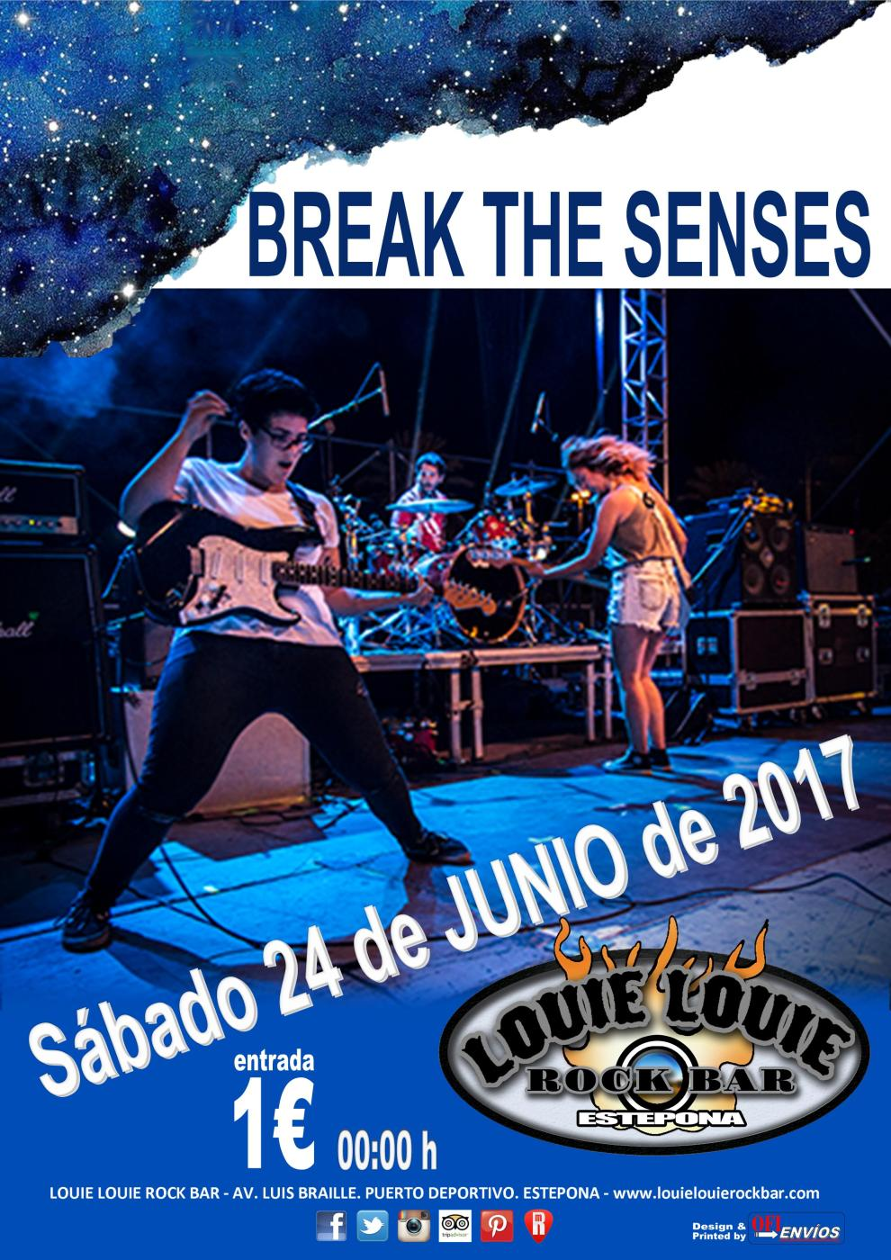 Cartel promocional de Break The Senses