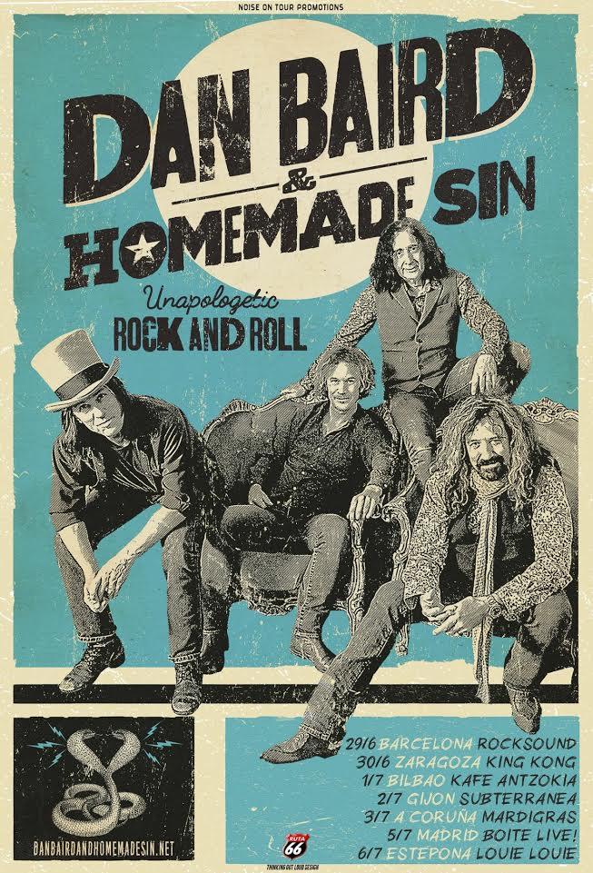 Cartel anunciando a Dan Baird & Homemade Sin