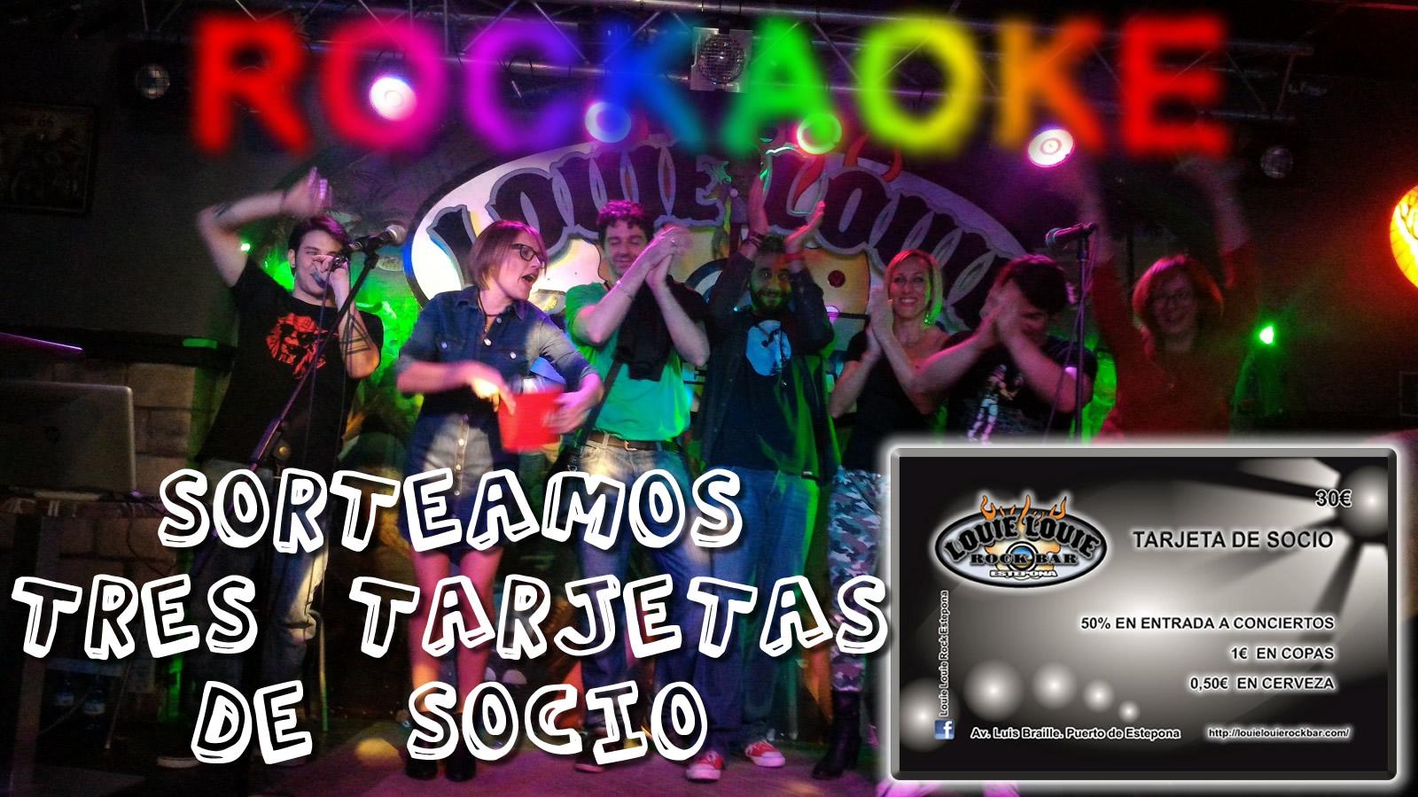 Cartel anunciando el Rockaoke